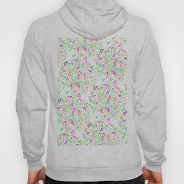 Pink turquoise watercolor hand painted triangles Hoody