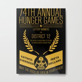 74th annual hunger games poster Metal Print