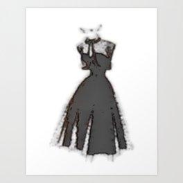 Retro Fashion Dress Series - Retro Fashion Dress Recursive Art Print