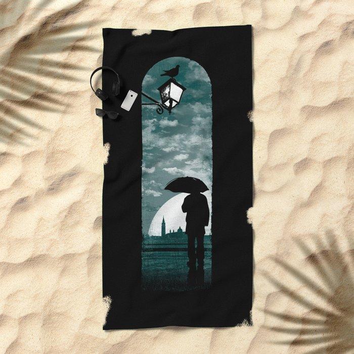 venetian alley Beach Towel