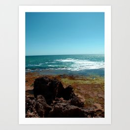 Blairgowrie Rock Pools Art Print