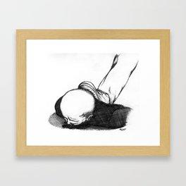 Homme En Noir Au Sol Framed Art Print