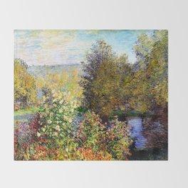 Claude Monet : A Corner of the Garden at Montgeron Throw Blanket