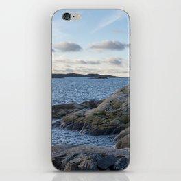 Craggy coastline by the ocean iPhone Skin
