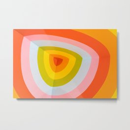 Rainbow Abstract Metal Print