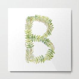 Initial B Metal Print