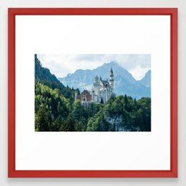 European Alps - Neuschwanstein castle Framed Art Print