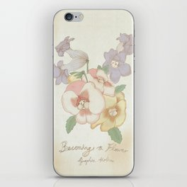 Becoming flowers iPhone Skin