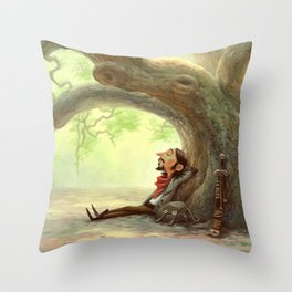 The Resting Traveler Throw Pillow