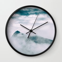 Misty mountain in Hong Kong Wall Clock
