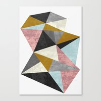 mineral Canvas Prints featuring Mineral by FLATOWL