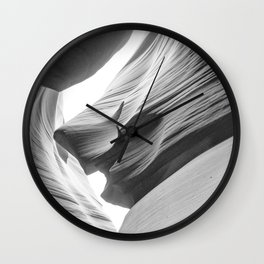 ANTELOPE CANYON XIX (B+W) Wall Clock