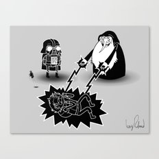 Adventure Wars - Black & White Canvas Print