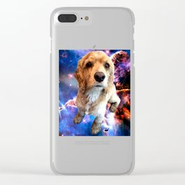 Wally In Space Silly Cocker Spaniel Clear iPhone Case