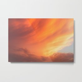 Celestial Fire Clouds Metal Print