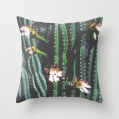 THE FLOWERING CACTUS Throw Pillow