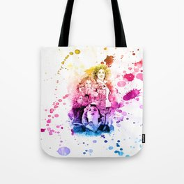 River Song/Doctor Who/Alex Kingston inspired Mixed Media Watercolor Portrait Tote Bag