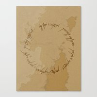 lotr Canvas Prints featuring One Ring (LOTR Fan Art) by Davide Fiume