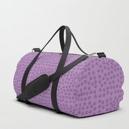 Dog Paws, Traces, Paw-prints - Purple Duffle Bag