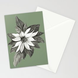 Florida Flower with Green Background Stationery Cards