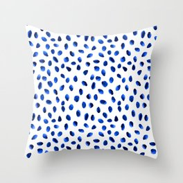 Seeing Blue Spots Throw Pillow