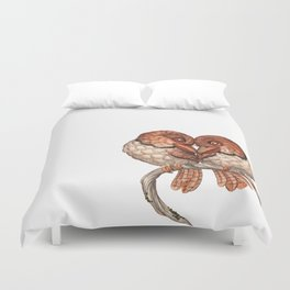 Collared Puffbird (Bucco capensis)  Duvet Cover