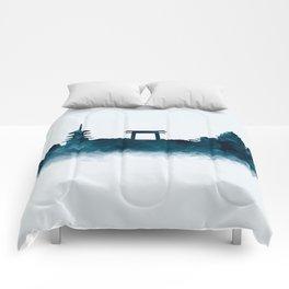 Kyoto Skyline Comforters