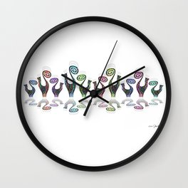 SNOOTY RAINBOW LINE DANCE Wall Clock