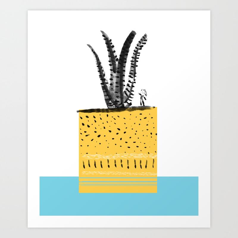 Creciendo juntas Growing together Art Print by naninanu