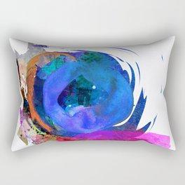 blue motion Rectangular Pillow