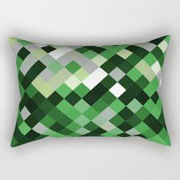 Aromantic Pride Pixelated Angled Squares Rectangular Pillow