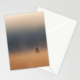 Fisher in foggy morning Stationery Cards
