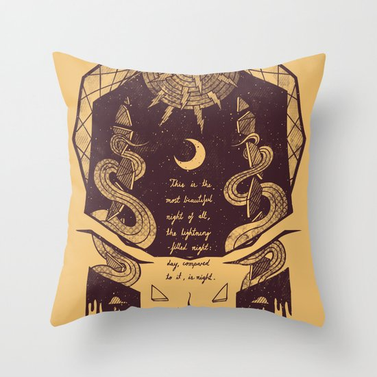 The Lightning Filled Night Throw Pillow