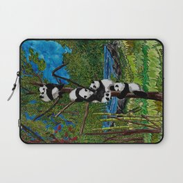 Six Baby Pandas in a Tree Laptop Sleeve