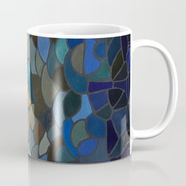 Stained Glass Painting, Blue to Yellow Coffee Mug