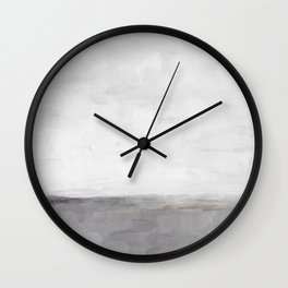 Light & Dark Gray with Gold Charcoal Grey Abstract Painting, Modern Wall Art, Wall Clock