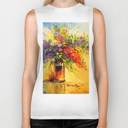 A bouquet of wild flowers Biker Tank