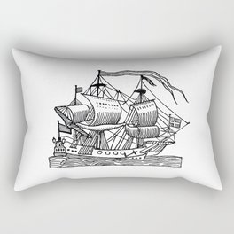 Ship Barco Bateau Schiff лодка Rectangular Pillow
