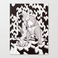 nursery Canvas Prints featuring Nursery by Michael Keith Brown