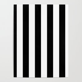 Black & White Vertical Stripes - Mix & Match with Simplicity of Life Poster