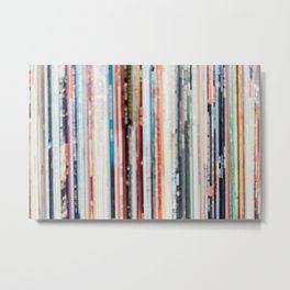Abstract Records Metal Print