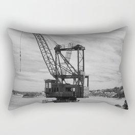 Shipyard Crane Rectangular Pillow