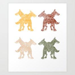 Cerberus Sixties Sunshine Art Print