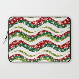Christmas waves and snowflakes Laptop Sleeve
