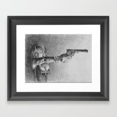 fuck you. pay me. Framed Art Print