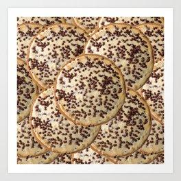 Chocolate Chip Cheesecake Art Print