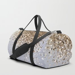 Sparkling Champagne Gold Glitter Glam #1 #shiny #decor #art #society6 Duffle Bag