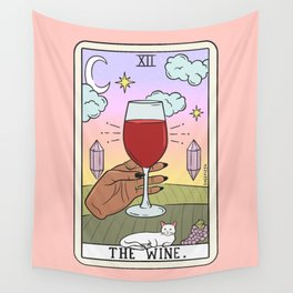 WINE READING (DARK) Wall Tapestry