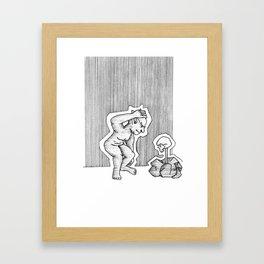 Curious Goblin Framed Art Print