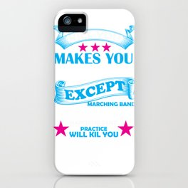 Marching Band Music Director Design iPhone Case